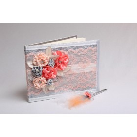 Guest book (GBW235) (Coral and silver)
